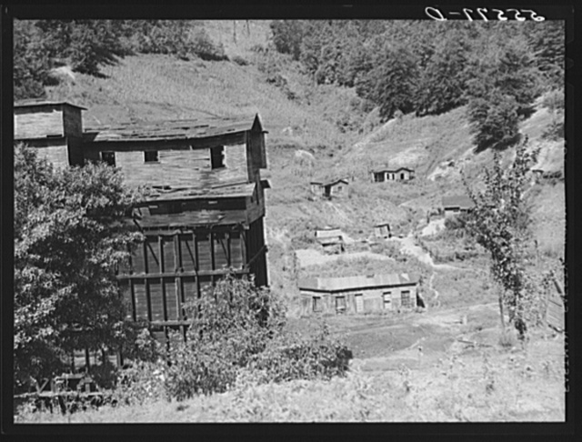 Abandoned mining town in mountain section near Chavies, Kentucky