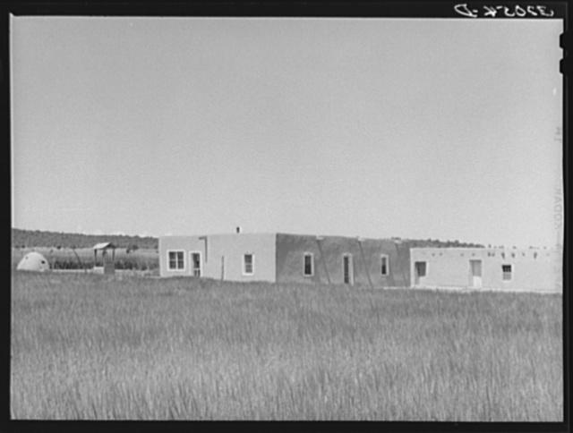 Adobe home of Spanish-American farmer. Chamisal, New Mexico