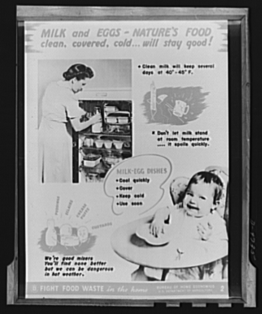 Agriculture chart. One of a series of ten charts released by the Bureau of Home Economics, Department of Agriculture. A limited number are on sale at twenty-five cents for a set of ten at the Superintendent of Documents, Government Printing Office (GPO), Washington, D.C.
