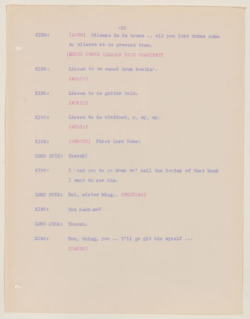 Alan Lomax Collection, Manuscripts, CBS, 1940-1941, Back Where I Come From