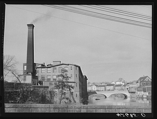 An old mill and bridge. Woonsocket, Rhode Island