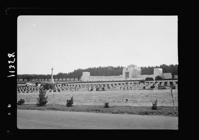 Anzac Day, Jerusalem, April 25, 1940. Cemetery from roadway