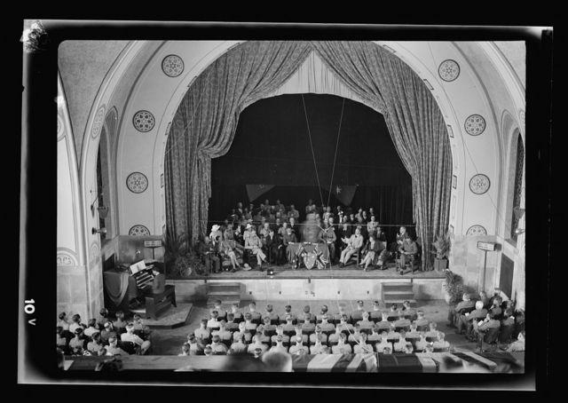 Anzac Day, Jerusalem, April 25, 1940. Service in the auditorium of the Jerusalem Y.M.C.A.