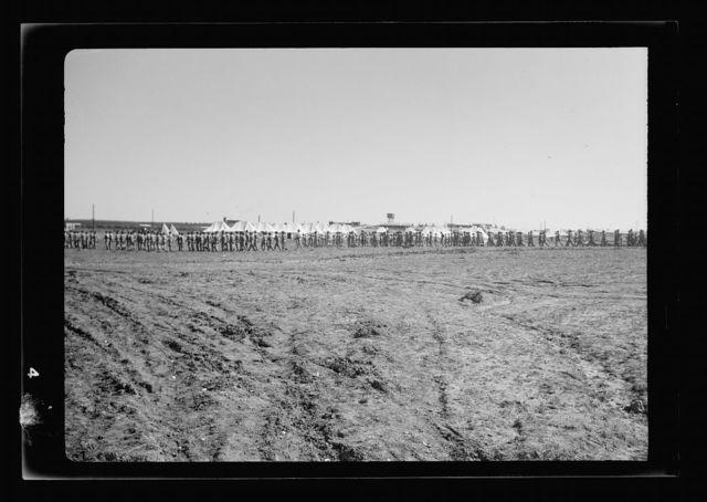 Arrival in Palestine of Mr. Antony [i.e., Anthony] Eden. Gen. Barker, G.O.C. at Lydda air port awaiting arrival of Mr. Eden