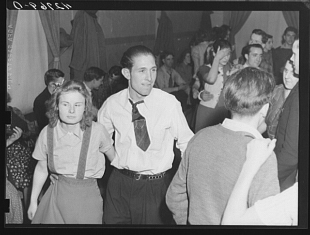 At a Saturday night square dance in Clayville, Rhode Island