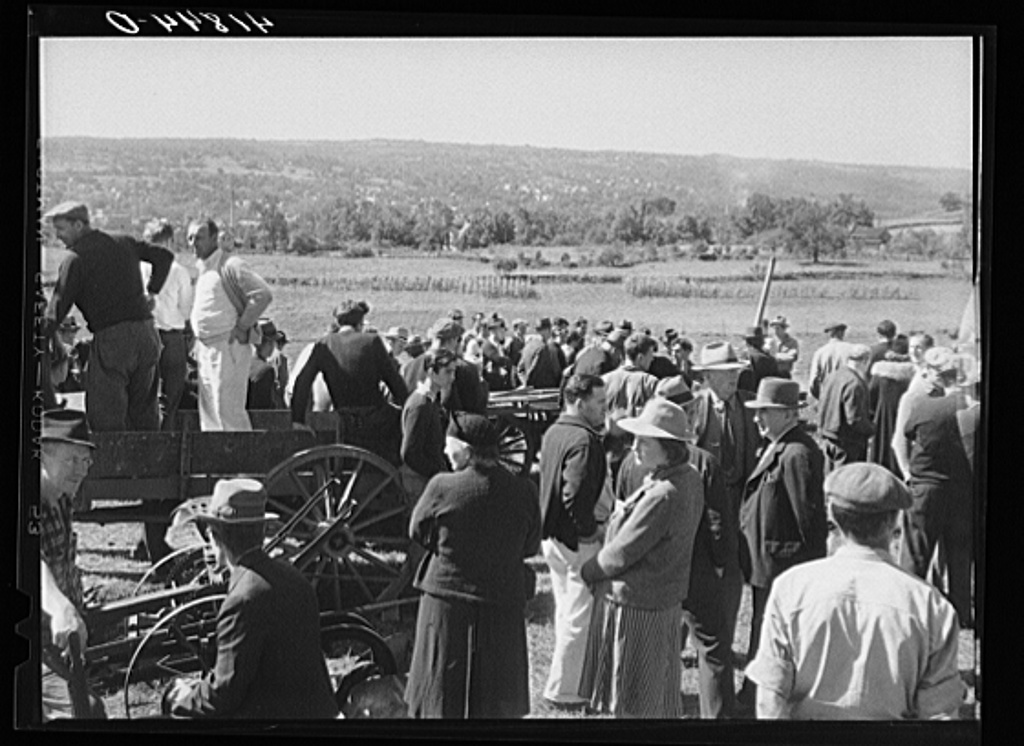 At the auction of the farm of Mr. Anthony Yacek. Derby, Connecticut