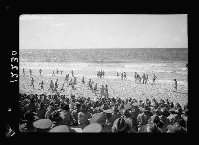 Aust. [i.e., Australian] Comforts Fund carnival on Gaza Beach