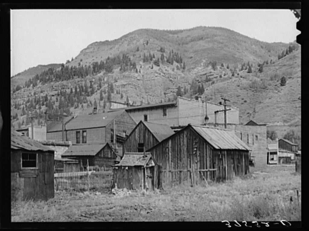 Backyards in Telluride, Colorado