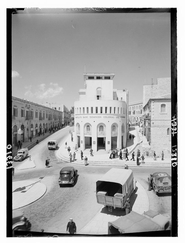 Barclay's bank bld'g [i.e., building]., Jer. [i.e., Jerusalem]