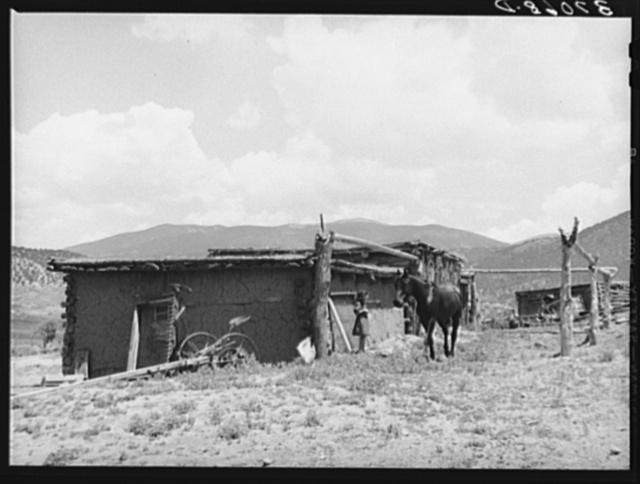 Barn, Spanish-American farm. Amalia, New Mexico