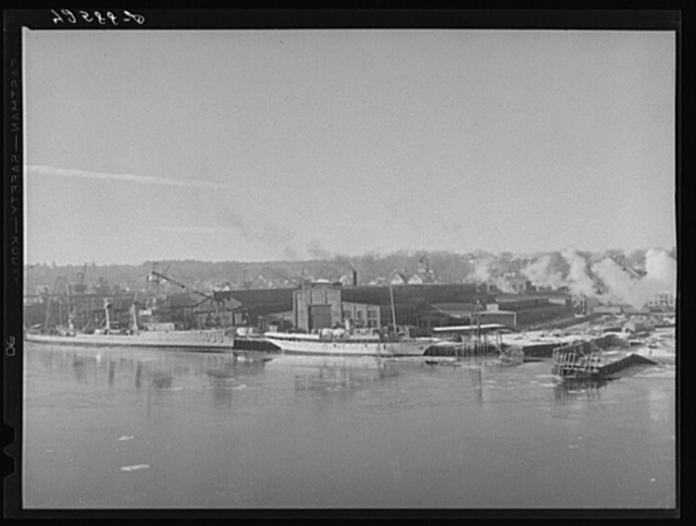Bath Iron Works, shipbuilders and engineers. Bath, Maine