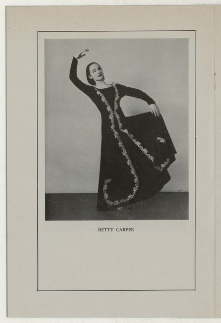 Betty Carper and Group in Concert Martha Graham Guest Artist