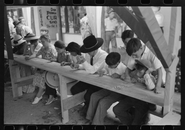 Bingo at fiesta, Taos, New Mexico