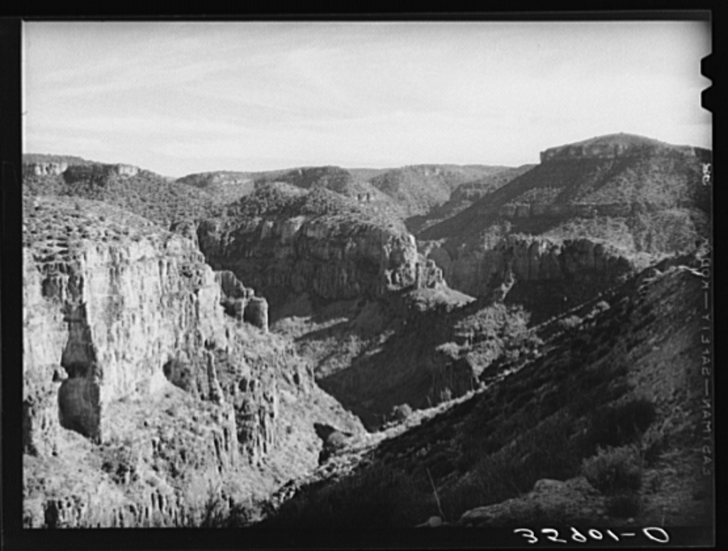 Black River Canyon at Beckers Butte. Gila County, Arizona