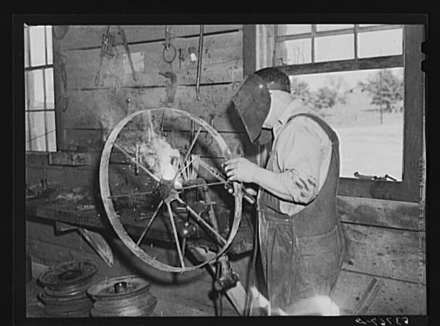 Blacksmith shop. Community service center, Faulkner County, Centerville, Arkansas (see general caption)