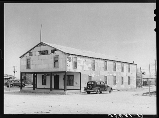 Boarding house in Hobbs, New Mexico. Hobbs is an oil boom town