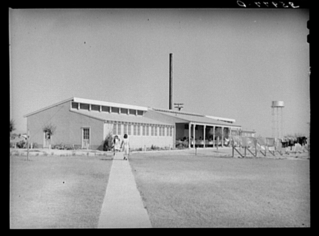 Boiler and laundry rooms at the Agua Fria migratory labor camp, Arizona