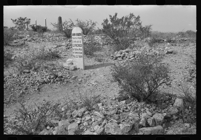 Boothill Cemetery, Tombstone, Arizona. This cemetery is no longer used but is a major tourist attraction
