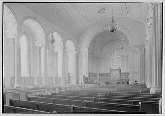 Brick Presbyterian Church, 91st St. and Park Ave., New York City. General, to chancel, from right