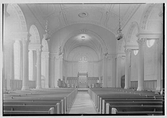 Brick Presbyterian Church, 91st St. and Park Ave., New York City. Interior, to chancel, axis