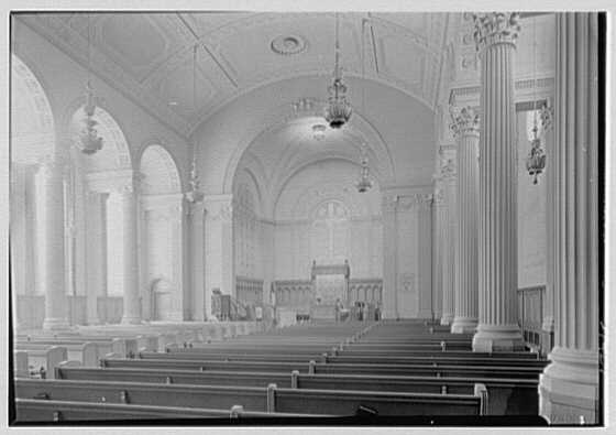 Brick Presbyterian Church, 91st St. and Park Ave., New York City. Interior, to chancel, from right
