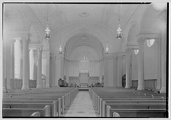 Brick Presbyterian Church, 91st St. and Park Ave., New York City. Interior (unfinished), to chancel