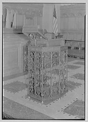 Brick Presbyterian Church, 91st St. and Park Ave., New York City. Portable pulpit, detail
