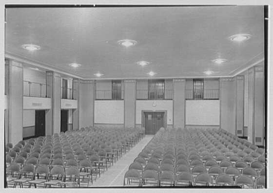 Brick Presbyterian Church, 91st St. and Park Ave., New York City. Recreation room, from stage