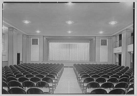 Brick Presbyterian Church, 91st St. and Park Ave., New York City. Recreation room, to stage