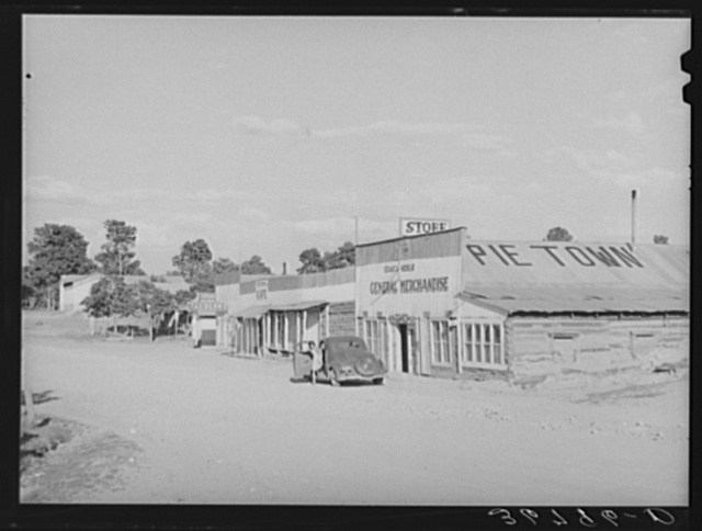 Business section of Pie Town, New Mexico