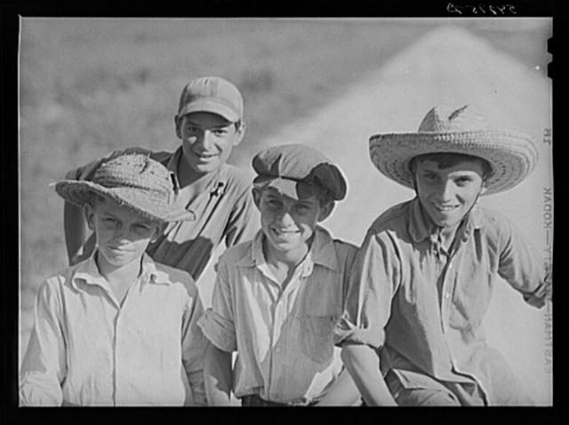 Cajun children on Terrebonne Project. Schriever, Louisiana