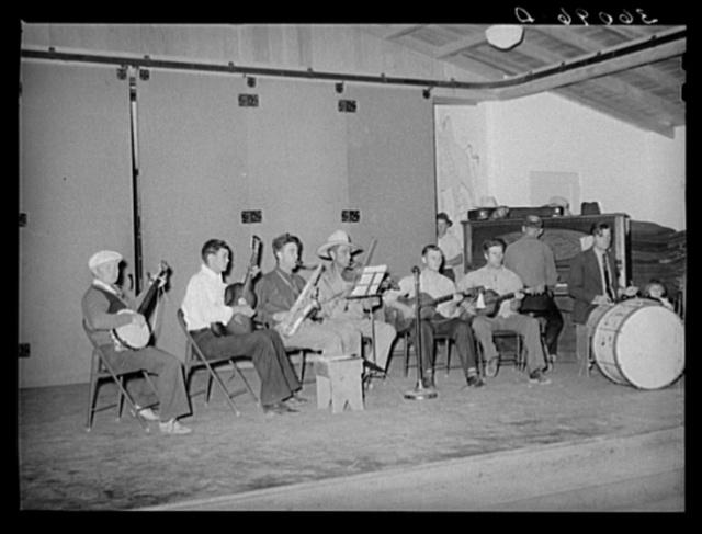 Camp orchestra at dance on Saturday night at the Agua Fria migratory labor camp. Arizona