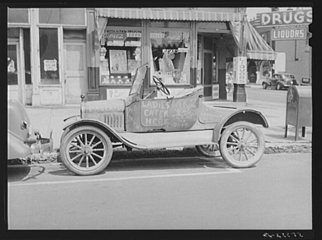 "Car belonging to ""Hep Cats"" on main street in Louisville, Kentucky"