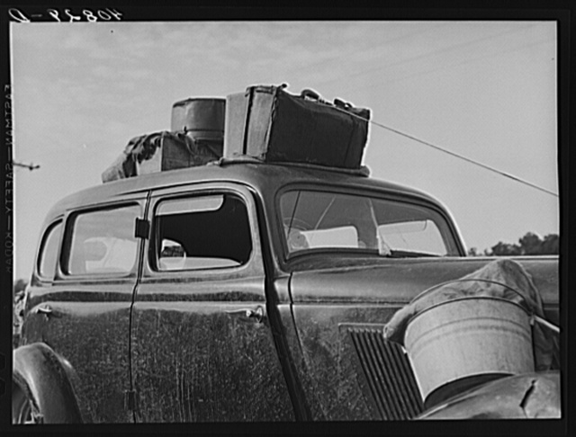 Car of migratory agricultural workers on their way to New Jersey from Florida. Near Shawboro, North Carolina