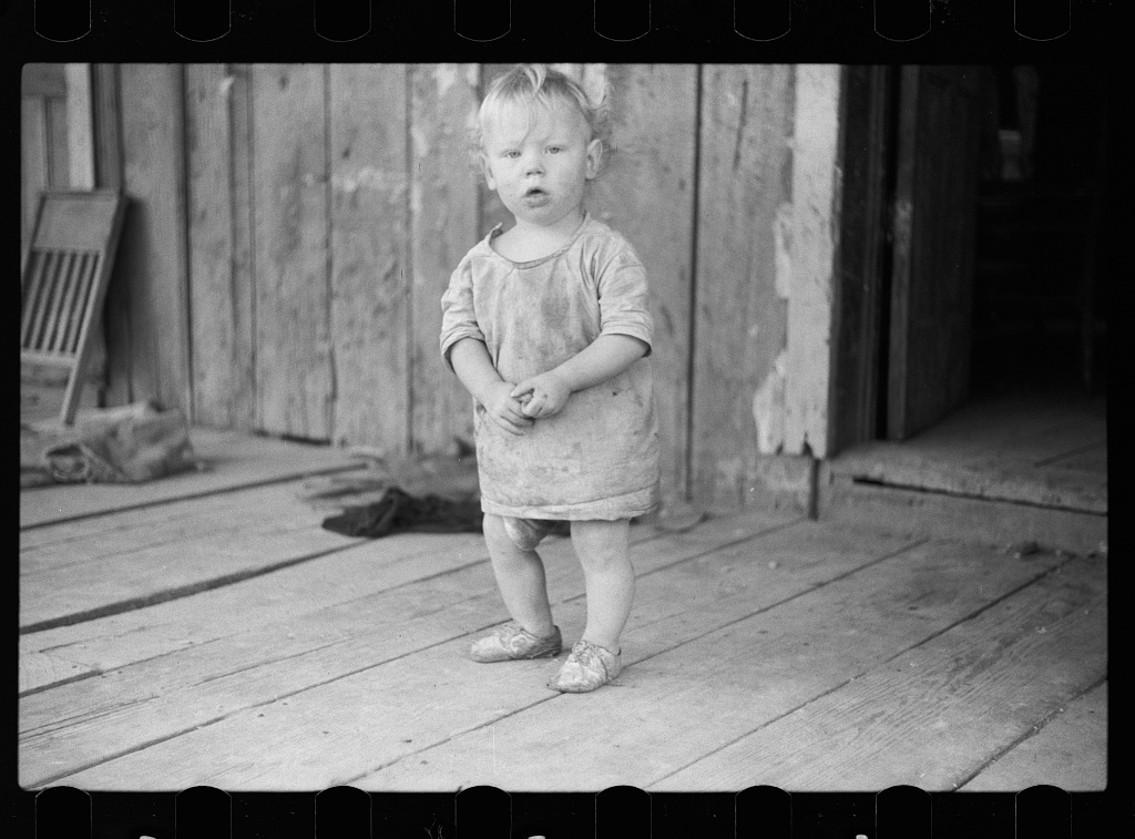 Child of Ozark Mountains farmer, Missouri