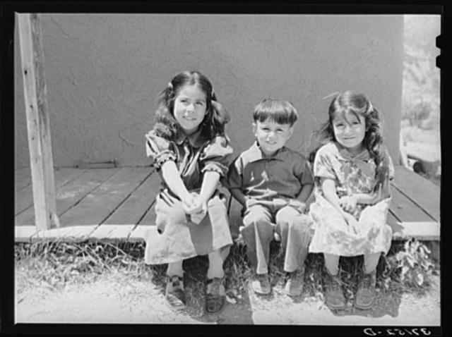 Children of Spanish-American farmer. Amalia, New Mexico