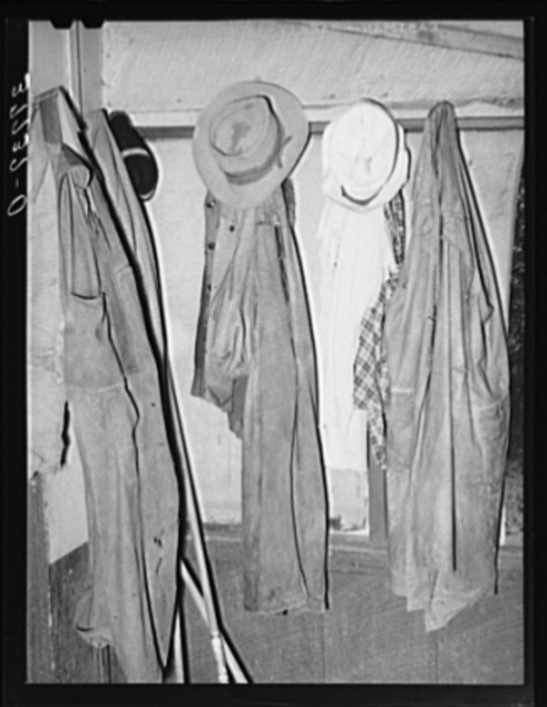 Clothing belonging to the farmer in Animas River Valley in La Plata County, Colorado