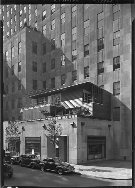 Collier's House at PEDAC, New York City. Exterior from below