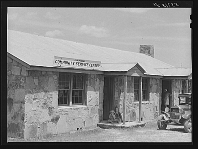Community service center. Faulkner County, Centerville, Arkansas (see general caption)
