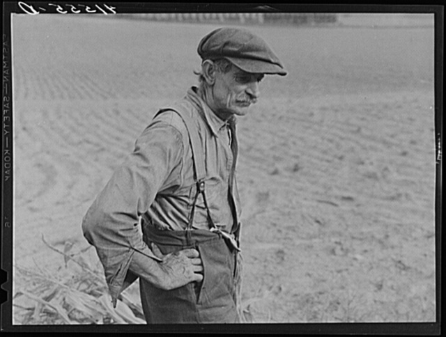 Connecticut farmer. Had just finished stacking his corn. Suffield, Connecticut
