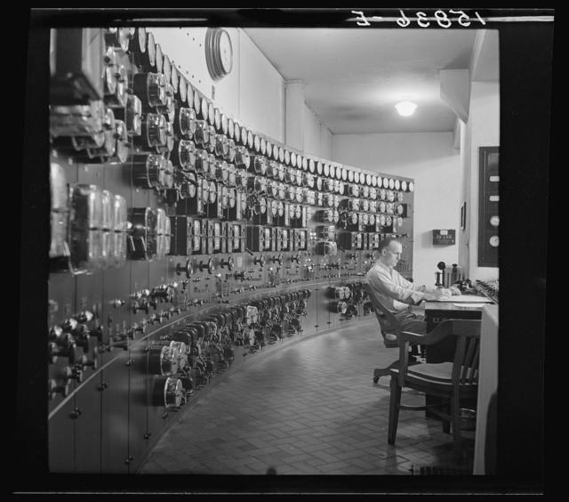 Control room, waterworks. Conduit Road, Washington, D.C.