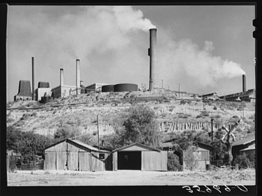 Copper smelter. Miami, Arizona