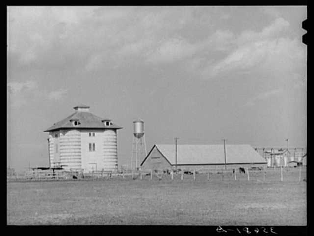 Cotton seed warehouse and gin in San Patricio County, Texas