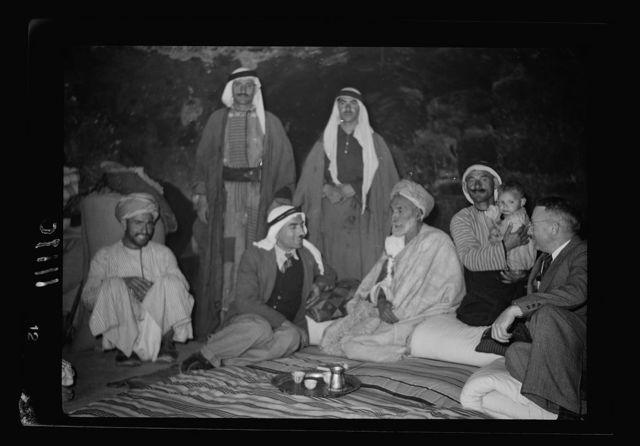 Daharieh (beyond Hebron on Beersheba road). Guests being entertained in the house of a village elder