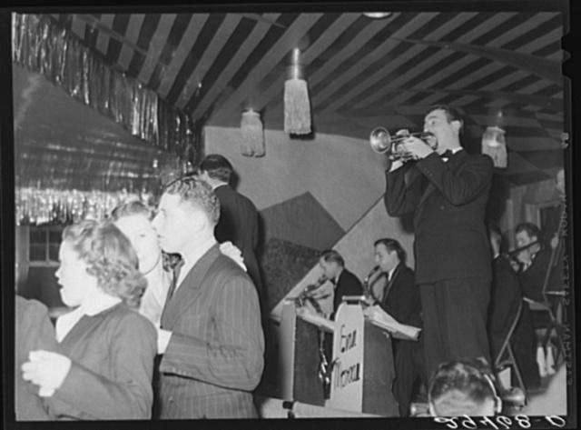 Dance hall, Saturday night. Marshalltown, Iowa