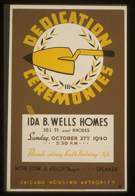 Dedication ceremonies--Ida B. Wells Homes ... parade along South Parkway ... Chicago Housing Authority / AG.