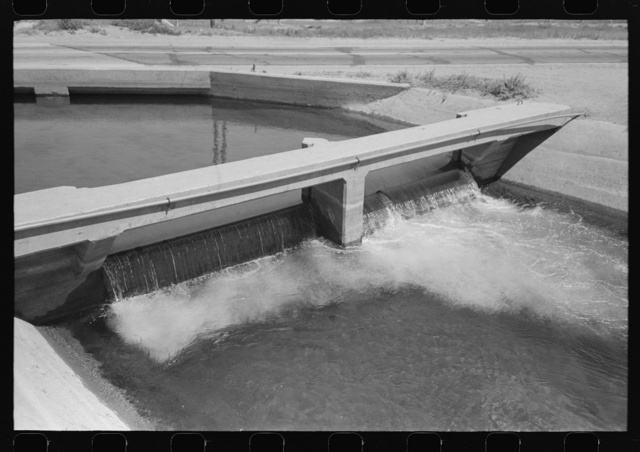 Detail of a main irrigation ditch in Maricopa County, Arizona