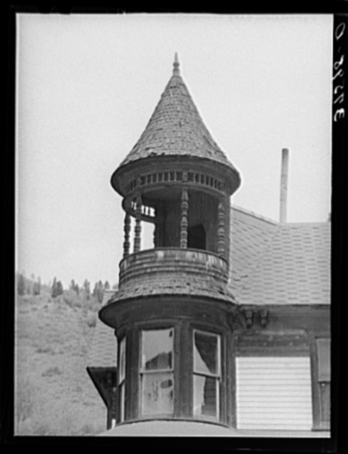 Detail of cupola on house. Telluride, Colorado
