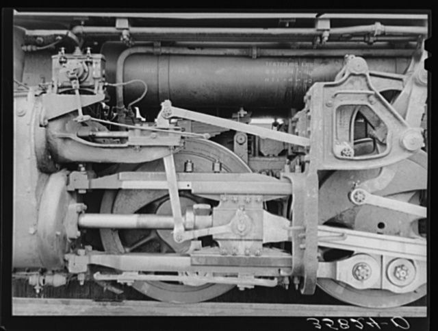 Detail of locomotive. Big Spring, Texas