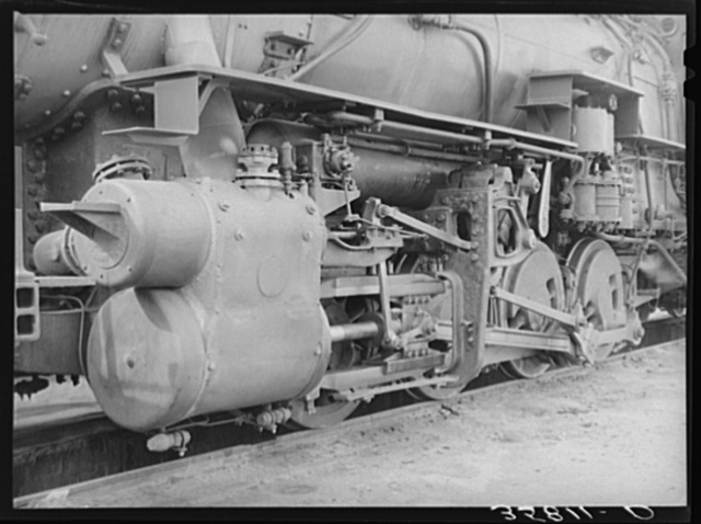 Details of engine in the yard at Big Spring, Texas